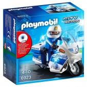 Playmobil - Policia con Moto y Luces LED - 6923
